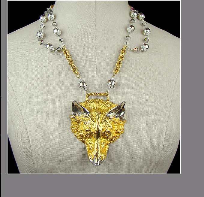 MADRIGALLERYcom Vintage Necklace Wolf by Harry Rosenfeld